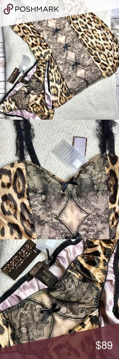 Roberto Cavalli Leopard Lingerie Set, NWT Size L Roberto Cavalli Leopard Lingerie Set, NWT Size L Roberto Cavalli Intimates & Sleepwear Pajamas