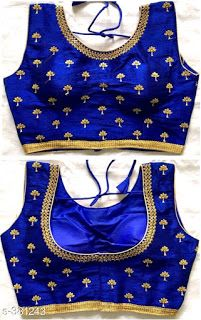 Buy online - women latest and trendy fashion collections & accessories with affordable price tags. Pattu Saree Blouse Designs, Simple Blouse Designs, Stylish Blouse Design, Fancy Blouse Designs, Blouse Neck Designs, Latest Blouse Designs, Simple Blouse Pattern, Neckline Designs, Magam Work Blouses