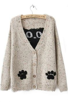 kitty sweater from Sheinside.com... want!