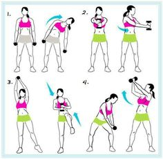 Arms workout with weights