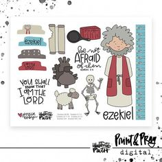 Arts And Crafts Homes Ezekiel Bible, Bible Crafts For Kids, Bible Illustrations, Doodle Lettering, Faith Bible, Jesus, Illustrated Faith, Journaling, Bible Lessons