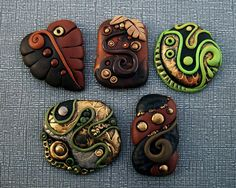 Polymer clay Cabochons   Flickr - Photo Sharing!