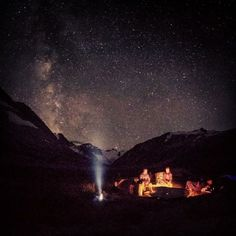 Epic campfire under the stars. Photo credit: Instagrams' @pebbleshoo #REI1440Project #canada
