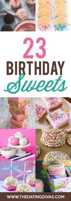 Sweet Birthday Treats BESIDES Cake and Ice Cream- sooooo many cute ideas! Birthday Sweets, Birthday Party Treats, Colorful Birthday Party, 30th Birthday Parties, 23rd Birthday, Adult Birthday Party, Little Girl Birthday, Birthday Stuff, Birthday Ideas
