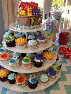 Plumeria Cake Studio: Noah's Ark Baby Shower Cake & Cupcakes
