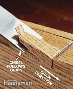 Tips for sharpening and using a chisel, one of the carpenter's basic tools.