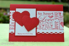 stampin up valentine's cards | ... Stampin Up demonstrator Mag from the US using 'Be My Valentine