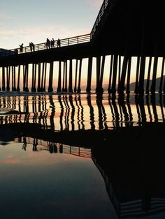 Pismo Beach, CA #pacific #ocean #pier #beach #sunset #waves