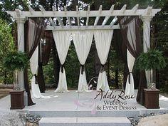 Decorating Ideas Cool Ideas Of Wedding Pergola Decorations White