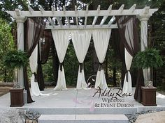 A Pergola We Built For Wedding Pergolas Pinterest Porches And Gazebo