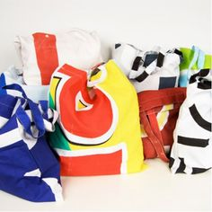 Super cool bags made from street flags