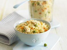 Gemüse-Couscous mit Hähnchen - smarter - Zeit: 10 Min. | eatsmarter.de