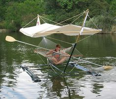 Hammock boat. Why hasn't someone come up with a production model of this?