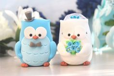 Owls wedding cake toppers  personalized elegant by PassionArte, $99.00