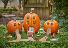 DIY Network shows you how to make a miniature Halloween village for your front porch.