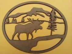 Motif en bois medium découpé au laser. : Décorations murales par laser4creations