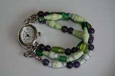 Fused Plastic Bead Watch by groundsel, via Flickr
