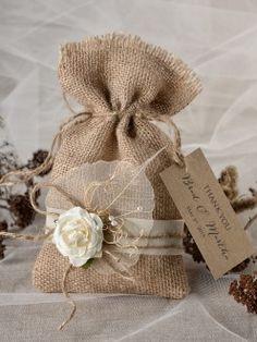 Burlap Favor Bag 08/bt/bg #weddingideas #burlap #rustic