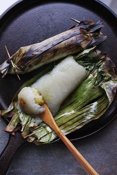 Thai Grilled Sticky Rice with Banana Filling