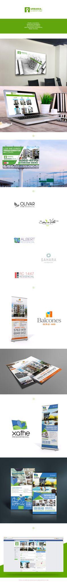 Diseño corporativo, desarrollo estratégico de materiales gráficos para desarrollos inmobiliarios y redes sociales.