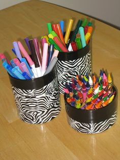 Craft, Upcycling, Zebra Print, Duct Tape Craft
