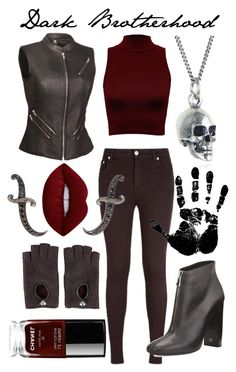 Dark Brotherhood by captainrogers on Polyvore featuring polyvore fashion style WearAll Whet Blu Aquascutum Tom Ford Black Pearl Sevan Biçakçi Hermès Lime Crime Chanel clothing skyrim ElderScrolls darkbrotherhood