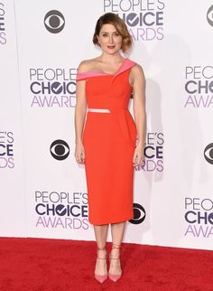 Pin for Later: The Most Glamorous Looks From the People's Choice Awards Sasha Alexander The Rizzoli & Isles actress wore an Antonio Berardi dress.