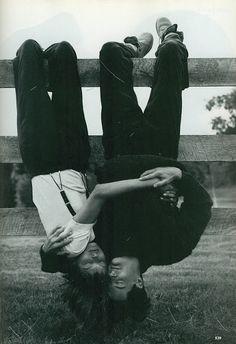 Vogue, September 1992, Linda Evangelista and Kyle MacLachlan, photographed by Steven Meisel