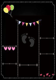 Birthday Party Themes, Birthday Invitations, Birthday Cards, Scrapbook Bebe, First Birthday Chalkboard, Baby Posters, Baby Frame, Chalkboard Signs, Chalkboards