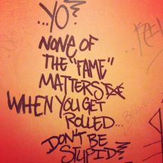 #graffiti #writingonthewall
