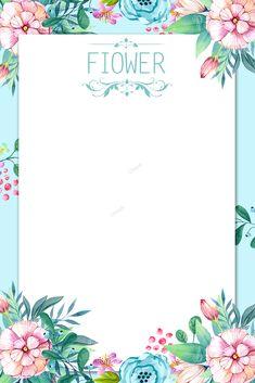 Fresh beautiful hand painted flower background Summer Background Images, Flower Background Wallpaper, Paint Background, Flower Backgrounds, Colorful Backgrounds, Flower Boarders, Flower Frame, Free Printable Invitations, Hand Drawn Flowers
