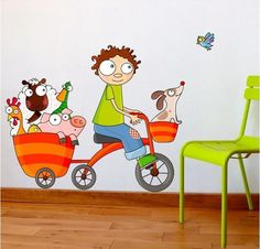 sticker decorativo passeiode bicicleta