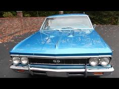1966 Chevelle SS, Marina Blue for sale Old Town Automobile in Maryland - YouTube