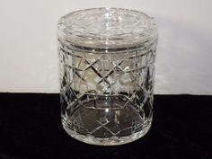 """RARE BACCARAT Crystal BISCUIT JAR Lidded Cookie Cracker France 5 3/4"""" Barrel"""