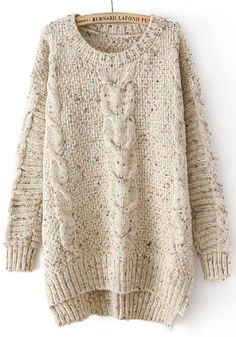 Women's Round Neck Hemp Flowers Long Sleeve Knit Pullover Sweater Save up to Off at Light in the Box using coupon and Promo Codes. Loose Sweater, Long Sleeve Sweater, Brown Sweater, Cable Knit Sweaters, Pullover Sweaters, Cozy Sweaters, Oversized Sweaters, Long Jumpers, Cooler Look