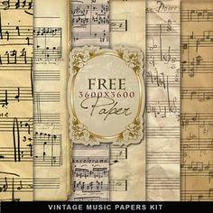 Free vintage music paper download