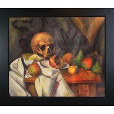 Paul Cezanne 'Nature Morte au Crane ' Hand Painted Framed Art