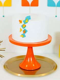 Cake idea Mid-Century Mod Party! #cake #partyideas #midcentury #mod #party
