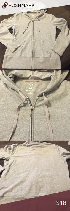 New York & co grey zip up hoodie sweater large Excellent used condition New York & Company Jackets & Coats