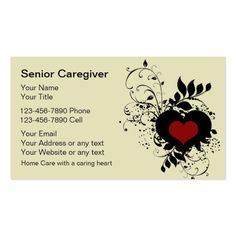 Senior Caregiver Business Cards Zazzle