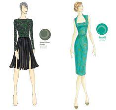 (3a) ADEAM by Hanako Maeda - (3b) Barbara Tfank - Pantone 2013 Fall Fashion Color Report Womens