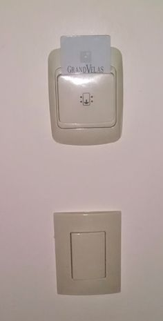 energy saving device in Mexican hotel to keep lights off when not in the room
