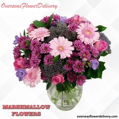 Beautiful and sweet bouquet of flowers to dazzle someone special in your life. #marshmallow #marshmallowflowers #flowers #beautifulbouquet #bouquet #sweetbouquet #florist #floralgift #surprise Order Flowers, Love Flowers, Beautiful Flowers, Baby Boy Balloons, Birthday Balloons, Marshmallow Flowers, Flower Delivery Service, Flowers Delivered, Pink Bouquet