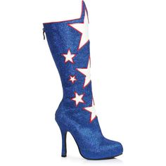 Red White and Blue Boot for Women ($60) ❤ liked on Polyvore featuring costumes, halloween costumes, multicolor, lady halloween costumes, sexy ladies costumes, sexy women halloween costumes, sexy red costumes and sexy costumes