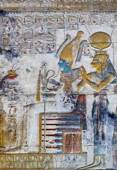 [Egypt 'Horus Shrine in Seti I Temple at Abydos. Luxor, Art Nouveau, Visit Egypt, Egypt Art, Religion, Ancient Egyptian Art, Ancient Civilizations, Art History, Painting