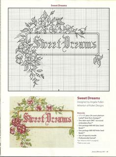 Sweet dreams punto croce