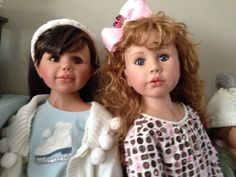 Faith and Avery dolls redressed.  By Monika Peter Leicht for Masterpiece Dolls.