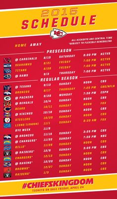 The 2015 Kansas City Chiefs Schedule Has Been Announced