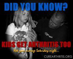 Not your average Saturday night... Kids Get #Arthritis Too.