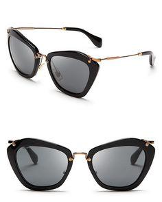 Miu Miu Catwalk Sunglasses | Bloomingdale's  Diese und weitere Taschen auf www.designertaschen-shops.de entdecken
